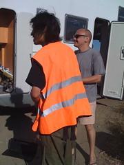 Toshio in the caution vest (Keiko Uenishi (o.blaat)) Tags: portugal vest toshio