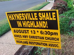 Haynesville Shale in Highland Sidewalk