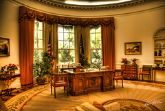 the oval office (Kris Kros) Tags: california ca usa white house photoshop john ronald print photography office high nikon dynamic united president great jr jfk canvas replica socal seal f valley reagan junior kris states d200 2008 range kennedy hdr oval simi available kkg the cs3 photomatix reaganslibrary kros kriskros 5xp of kk2k kkgallery