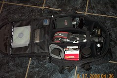 Camera Bag (dwightsghost) Tags: camera canon bag kodak filter hood dslr polarizer memorycard compactflash zoomlens canonef50mmf14usm dc280 primelens canonef70200mmf28lis eos30d canonefs1855f3556ii 200eg