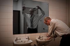 Through the looking glass (Mr Aardvark) Tags: man glass strange composite bathroom mirror weird scary haunted lookingglass ghostly mraardvark thankgodnoonecameinandfoundmelikethis