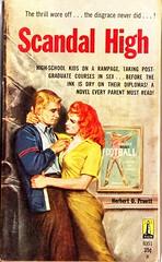 SCANDAL HIGH (martinprine) Tags: fiction books pulp paperbacks