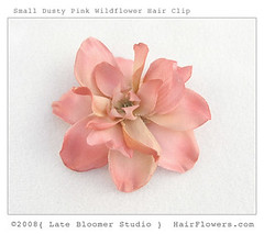 Flower_Hair_Clip_Pink_Wildflower (hairflowers.com) Tags: wedding flower hair cream silk ivory clips magnolia gardenia flowerhairclip flowerforhair bridalflowerhairclip weddingflowerhair gardeniaflowerforhair
