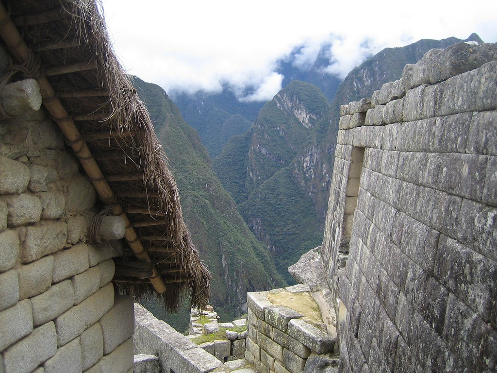 Thatched Roof and Incan Wall Machu Picchu