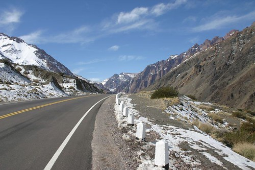 A beautiful downhill ride on the Argentinean side...