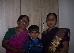 Aadi with my mom and her sis (~In pursuit of happiness~) Tags: bangalore almond melbourne aaditya nchukka