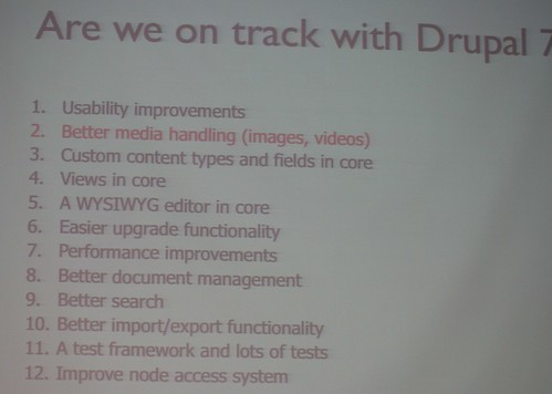 Are we on track with Drupal 7?