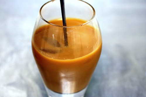cold brewed iced coffee