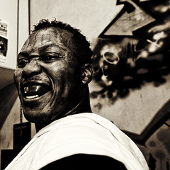Raging Bull Jr. (Willem Heerbaart) Tags: portrait people smile blackwhite boxing enschede artcafe mylifeashuman evokingness globalworldawards boksclubenschede artcafedomidoexhibitionscomein
