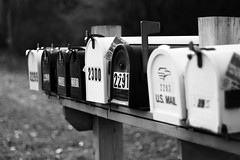 Mail Boxes 2 (Leigh Moore) Tags: usa holiday mailbox america canon eos post mail mailboxes postal lightroom usmail adobelightroom 400d canon400d eff18ii