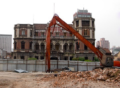 Qiu Mansion - front view (avezink) Tags: china heritage architecture lumix shanghai demolition   shanghaiist eclectic      412 qiumansion weihanilu   gettyimageschinaq1