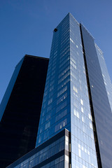Two skyscrapers vertical (romap) Tags: city blue shadow sky abstract reflection window glass vertical architecture modern facade skyscraper poster vanishingpoint tallinn estonia cityscape realestate angle image mesh steel wide officebuilding nobody symmetry business growth chrome tall futuristic scenics thefuture finance frontview hotell stockmarket canonefs1022mm urbanscene architecturalfeature buildingexterior acuteangle placeofwork insideof financialbuilding builtstructure canoneos40d lookingthroughanobject mirroredpattern