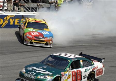 September 7th, 2008 Dale Earnhardt Jr spins Kyle Busch at the Chevy Rock and Roll 400