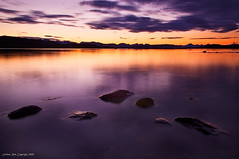 Purple dawn of the north (Rob Orthen) Tags: sea summer sky orange sun mountains norway clouds sunrise landscape dawn nikon rocks europe purple august rob scandinavia dri meri maisema archipelago kes d300 norja saaristo elokuu digitalblending 175528 silkywater orthen roborthenphotography norjansaaristo purpurataivas
