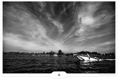 Boat Lover (Gert van Duinen) Tags: trees bw lake holland water sailboat reflections boats boat blackwhite sailing digitalart cruising lakeside maritime yachts nautical 2008 landschaft motorboat atmospheric friesland landschap eernewoude whispyclouds sailers explored dutchartist landschaftsaufnahme frisianlakes cresk gertvanduinen goldenvisions squarecresk symphoniouslywhizzyclouds