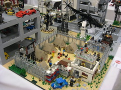 Zombie Apocafest 2008 - Justin's quarantine camp (Dunechaser) Tags: lego zombie events valve displays undead zombies tbb brickcon brickarms thebrothersbrick brothersbrickcom brickcon2008 brickcon08 apocafest