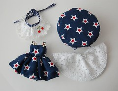 4 Piece Blue Lacey Outfit