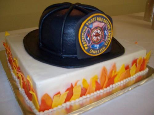 Fireman's groom's cake