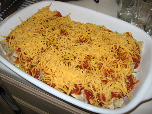 Chicken Enchiladas, With Sauce and Cheese