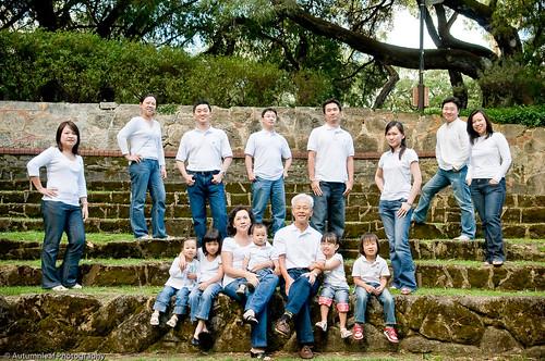 The Chua Family at the Sunken Garden