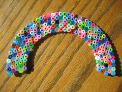 Perler Beads Rainbow (Kid's Birthday Parties) Tags: kids beads rainbow crafts kidscrafts fusebeads hamabeads perlerbeads