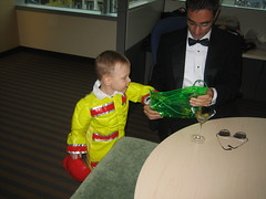 Showing James Bond my trick or treat bag