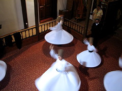 In motion. (Praziquantel) Tags: turkey dance sema bursa whirlingdervishes