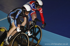 Anna Blyth & Victoria Pendleton @ UCI WorldCup Classics Track Cycling (chrismaher.co.uk) Tags: greatbritain manchester cycling keirin trackcycling manchestervelodrome britishcycling victoriapendleton cyclomania uciworldcupclassics annablyth womeninsport