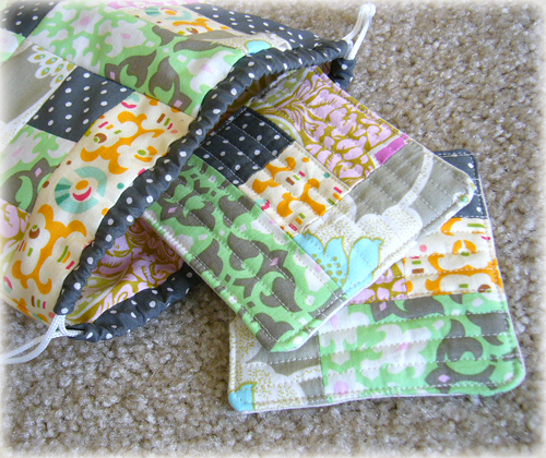 Logcabin Drawstring Bag