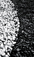 yin and yang (freakthemeaty) Tags: blackandwhite stones yinyang