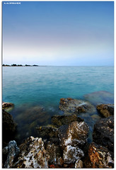 Beach Village (A.Alwosaibie) Tags: light sea sky motion beach rock photo nikon village shot spot d60 sigma1020mm   alhasa           alaha alahsa rubyphotographer  alwosaibie