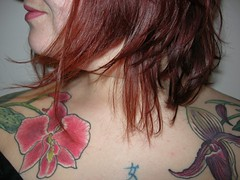 Shoulders (JennaXide) Tags: orchid tattoo ink paphiopedilum dendrobiumphalaenopsis