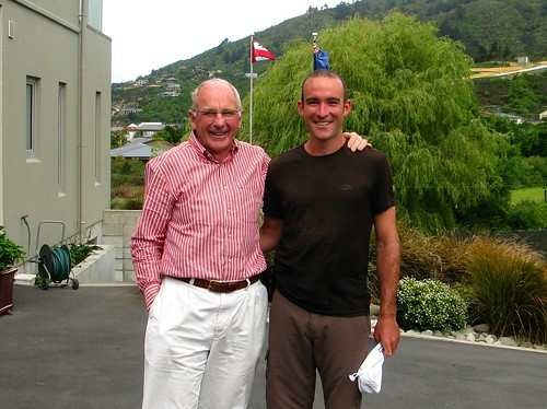 With Peter Yarrell in Picton, New Zealand