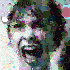 60's scream (Village9991) Tags: people abstract mosaic deception photomosaic illusion psyco 60 irregular village9991