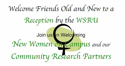 You're Invited to WSRU Reception  Tuesday, November 25, 2008