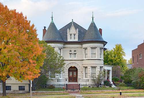 Lafayette Square Neighborhood, in Saint Louis, Missouri, USA - mansion