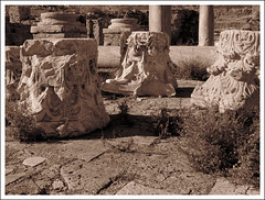 Western Church, Apollonia, Libya (Martin Beek) Tags: sepia northafrica libya apollonia tonal monochromephotography   westernchurch sepiaandmonochrome monochromeandsepia highlightsoflibya