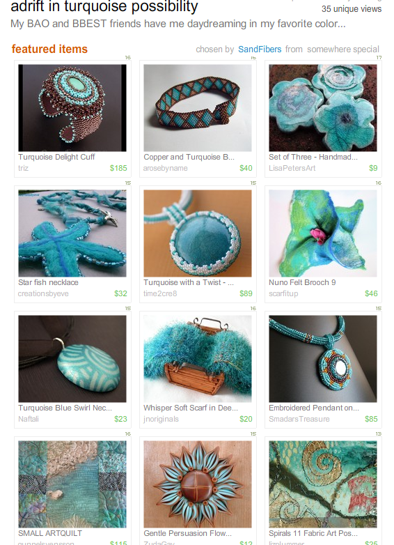 adrift in turquoise possibility! by Sandfibers