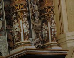 Bad Essen, Osnabrcker Land, Nikolauskirche, epitaph for Georg Clamor v.d. Bussche zu Hnnefeld 1614, detail (groenling) Tags: stone carving inri stein epitaph badessen osnabrckerland nikolauskirche stenelt georgclamorvdbusschezuhnnefeldundippenburg