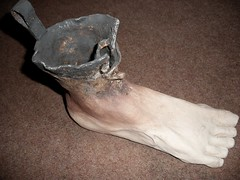 Magritte footboot sculpture (vonMonkey) Tags: sculpture ceramic boot foot model surreal magritte clay