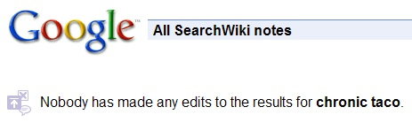 SearchWiki No Edits