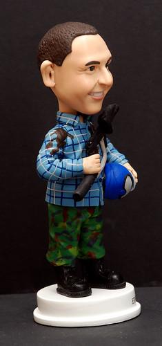 fully customised 3D caricature figurine angle  4