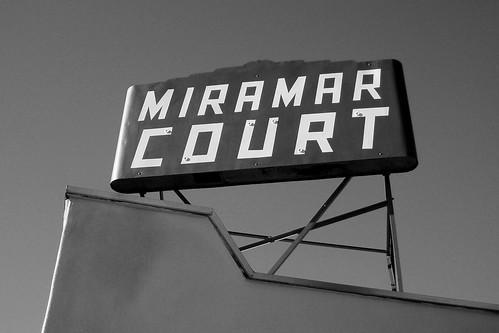 Miramar Court bw