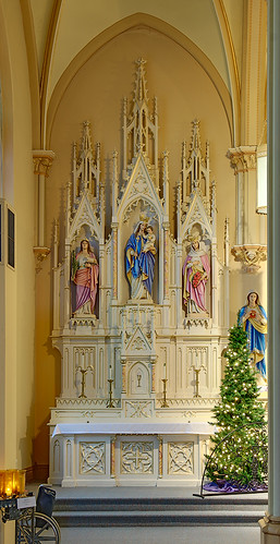 Saint George Roman Catholic Church, in New Baden, Illinois, USA - Mary's altar