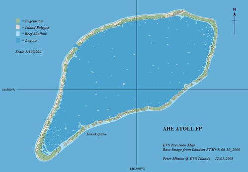 Ahe Atoll - EVS Precision Map (1-100,000)