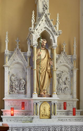 Saint Bernard Roman Catholic Church, in Albers, Illinois, USA - altar of Saint Joseph