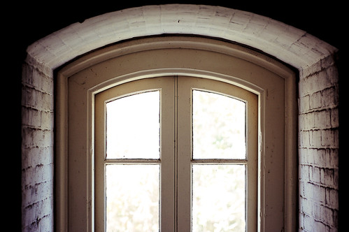 The arched lighthouse windows