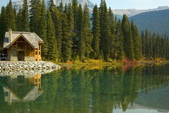 Emerald Lake Lodge (sminky_pinky100 (In and Out)) Tags: lake canada mountains water reflections landscape rockies bc lodge tup emeraldlake personalbest 5photosaday bej mywinners abigfave omot citrit theunforgettablepictures eyejewel