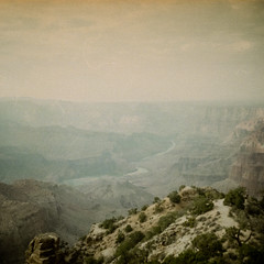 grand canyon (WOLF CHOIR) Tags: 126film gafanscomatic instamatic 1960s 1970s japanesecamera vintagecamera grandcanyon arizona southwest americansouthwest softimage soft haze amazing coloradoriver nostalgia eragoneby timeless timeandthought lotr sandstone erosion weathering timeland nice