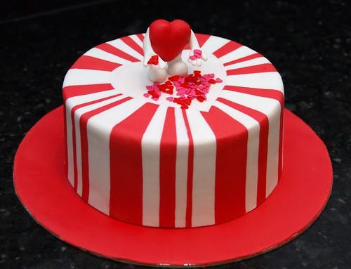 valentines day fondant cakes